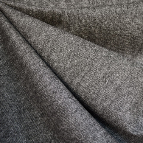 Soft Brushed Herringbone Bottom Weight Charcoal
