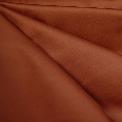 Designer Cotton Sateen Solid Rust
