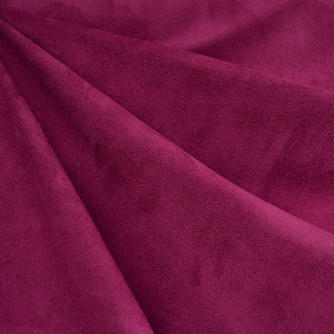 Designer Stretch Suede Solid Raspberry