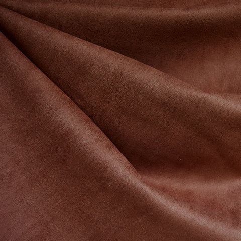 Designer Stretch Suede Solid Cinnamon
