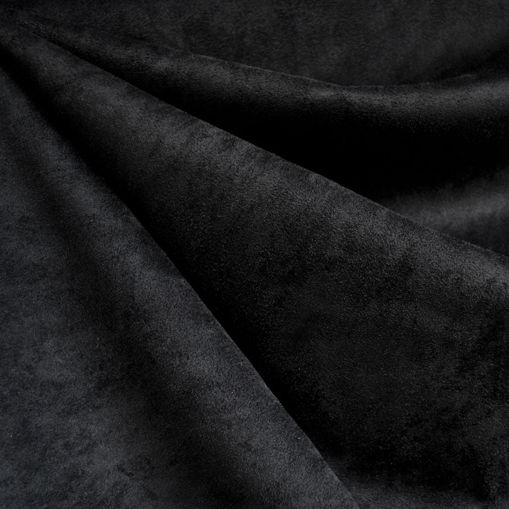 Designer Stretch Suede Solid Black - Fabric - Style Maker Fabrics