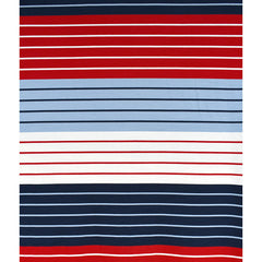 Designer Wide Repeating Stripe Jersey Knit Red/Blue - Sold Out - Style Maker Fabrics