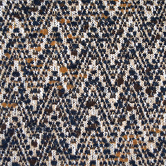 Chevron Boucle Wool Blend Coating Beige/Navy/Mustard - Fabric - Style Maker Fabrics