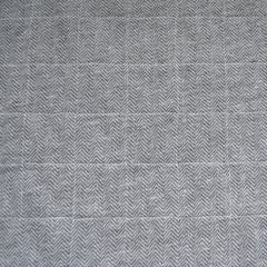 Flannel Backed Quilted Nylon Coating Winter White/Grey - Fabric - Style Maker Fabrics