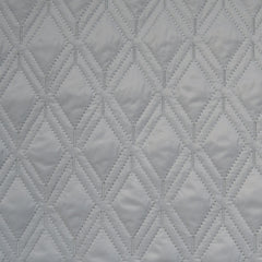 Plush Diamond Quilted Nylon Coating Grey - Fabric - Style Maker Fabrics