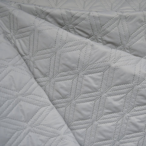 Plush Diamond Quilted Nylon Coating Grey