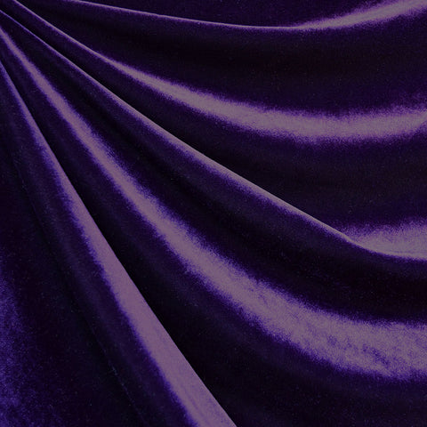 Stretch Velvet Solid Purple