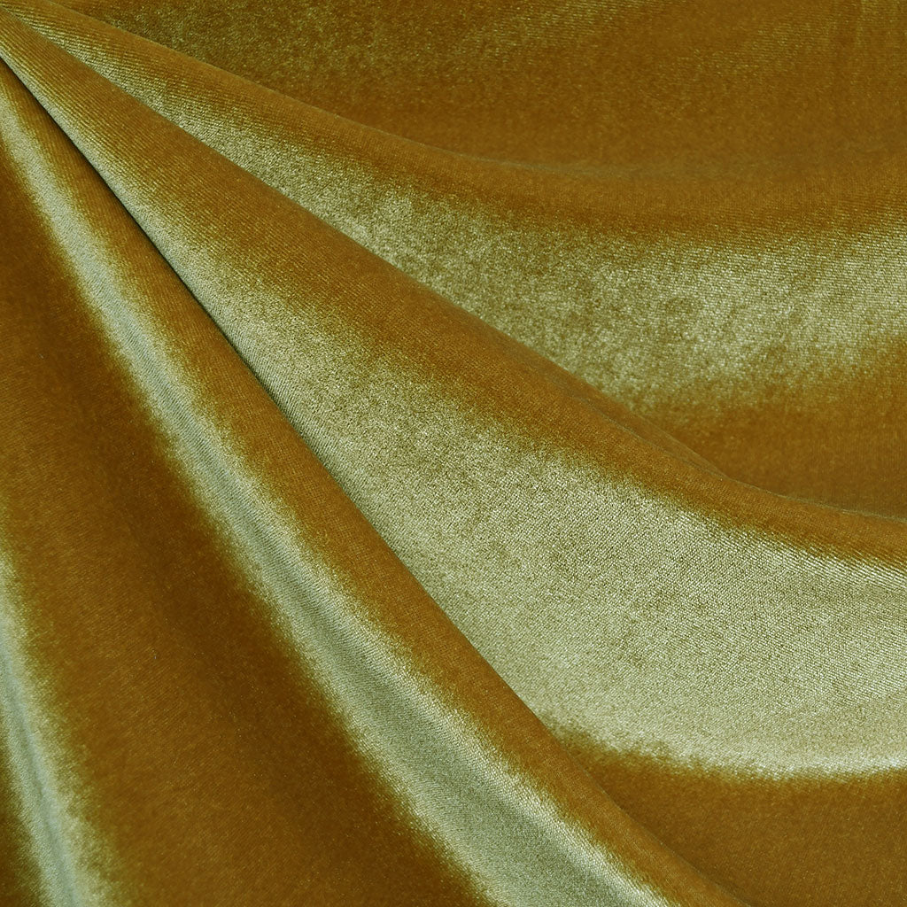 Stretch Velvet Solid Mustard - Fabric - Style Maker Fabrics