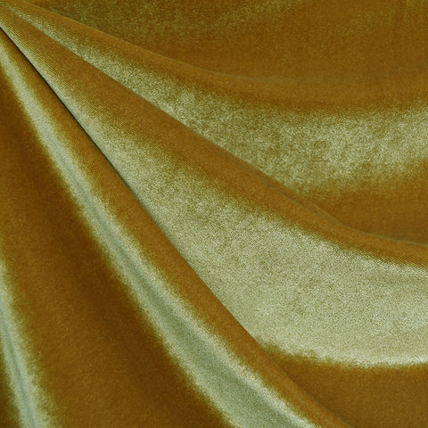 Stretch Velvet Solid Mustard
