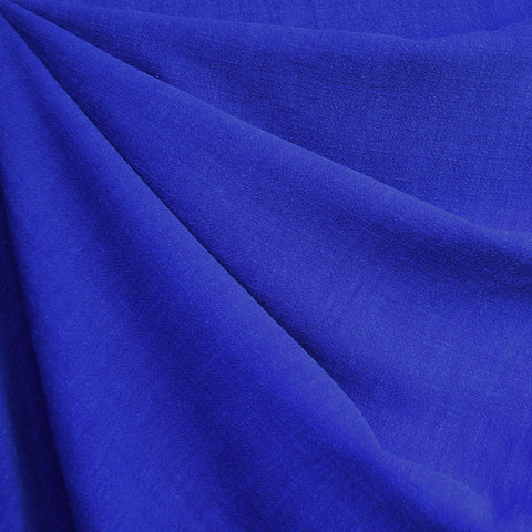 Slub Texture Linen Blend Solid Royal