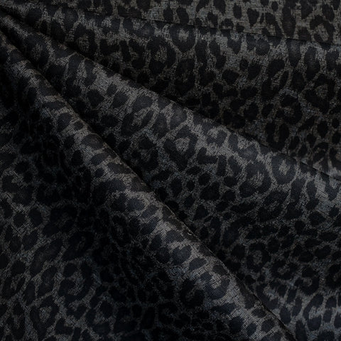 Tonal Animal Print Ponte Knit Charcoal