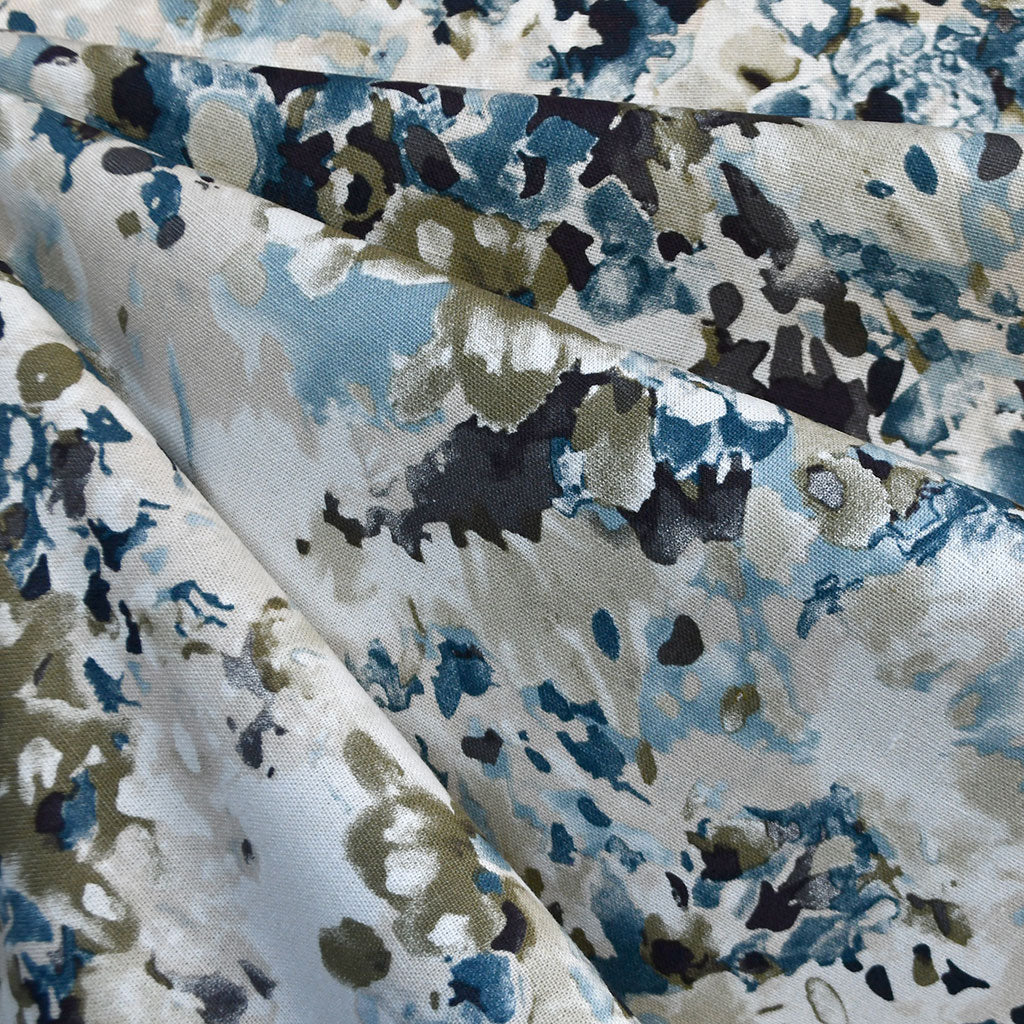 Watercolor Floral Linen Blend Shirting Blue SY - Sold Out - Style Maker Fabrics