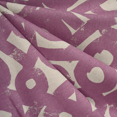 Ruby Star Layered Brushstroke Canvas Amethyst - Fabric - Style Maker Fabrics