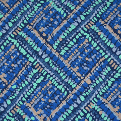 Botanica Abstract Mosaic Rayon Royal/Aqua - Sold Out - Style Maker Fabrics