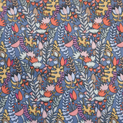 Fantasy Garden Floral Cotton Lawn Pewter SY - Sold Out - Style Maker Fabrics