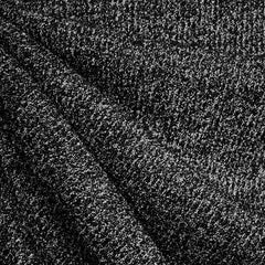 Plush Tweed Sweater Knit Black/Grey - Fabric - Style Maker Fabrics