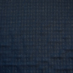 Reversible Check Cotton Double Cloth Navy/Cream SY - Sold Out - Style Maker Fabrics