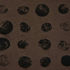 Stamped Spots Designer Bamboo Jersey Knit Coffee - Fabric - Style Maker Fabrics