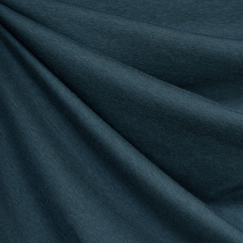 Designer Bamboo Jersey Knit Solid Teal - Fabric - Style Maker Fabrics