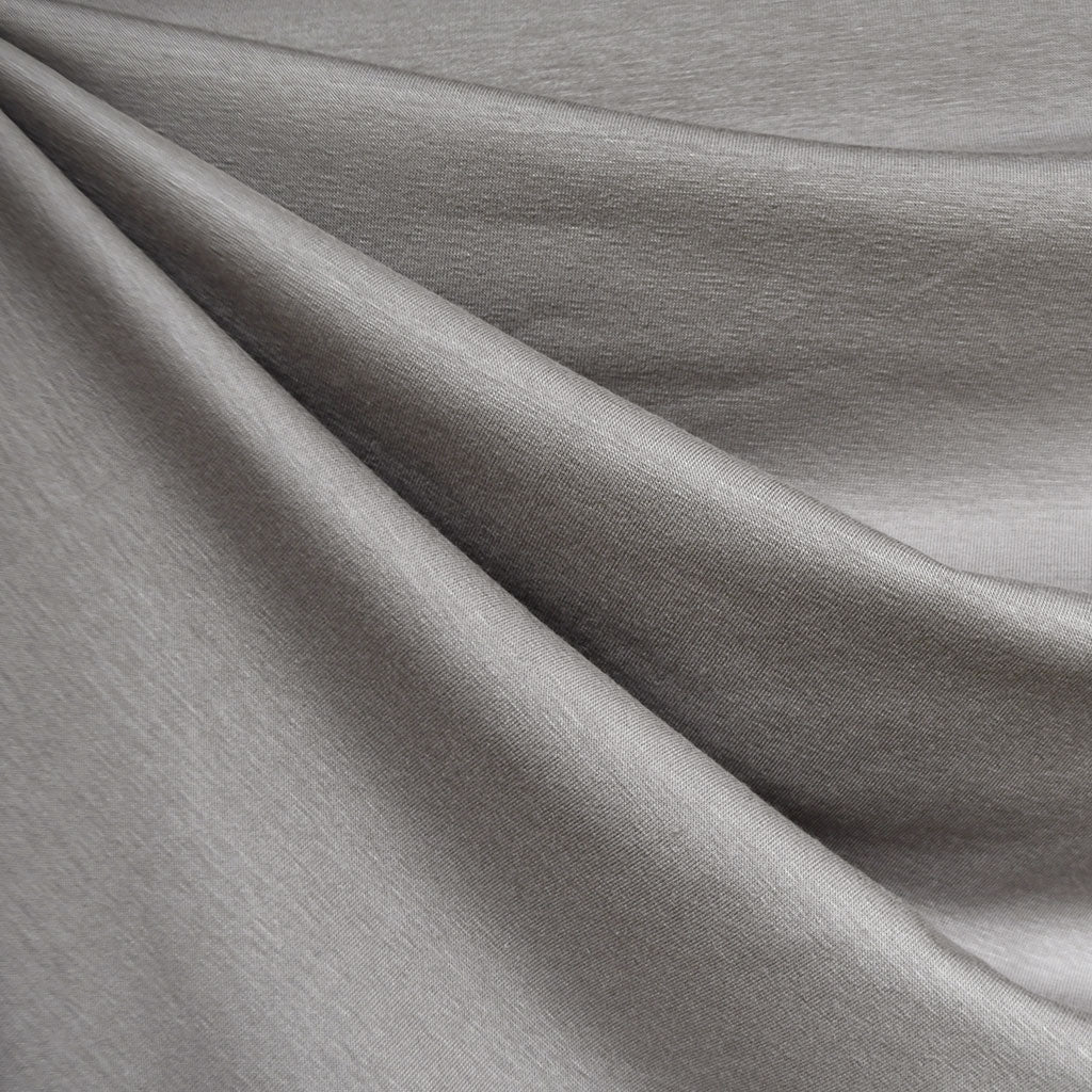 Designer Bamboo Jersey Knit Solid Pewter - Fabric - Style Maker Fabrics