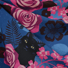 Ruby Star Magic Cat Rayon Midnight - Fabric - Style Maker Fabrics