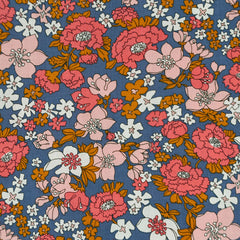 Ruby Star Lindley Floral Cotton Lawn Periwinkle SY - Sold Out - Style Maker Fabrics
