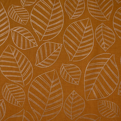 Ruby Star Aviary Leafy Metallic Cotton Caramel - Fabric - Style Maker Fabrics