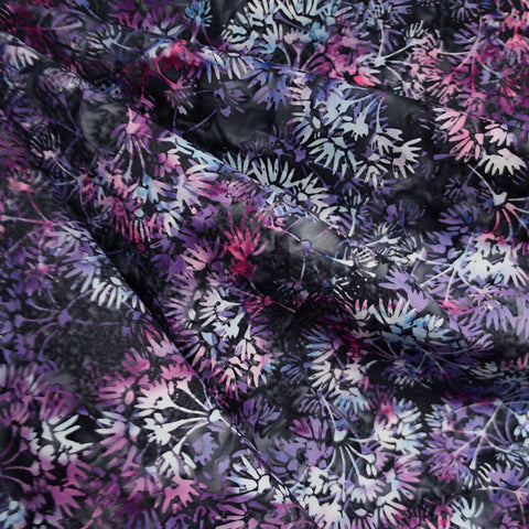 Handcrafted Cotton Batik Dandelion Floral Twilight