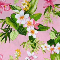 Plumeria Floral Hawaiian Cotton Shirting Blush - Sold Out - Style Maker Fabrics