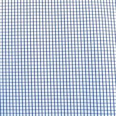 Designer Windowpane Check Cotton Shirting Blue/White - Fabric - Style Maker Fabrics