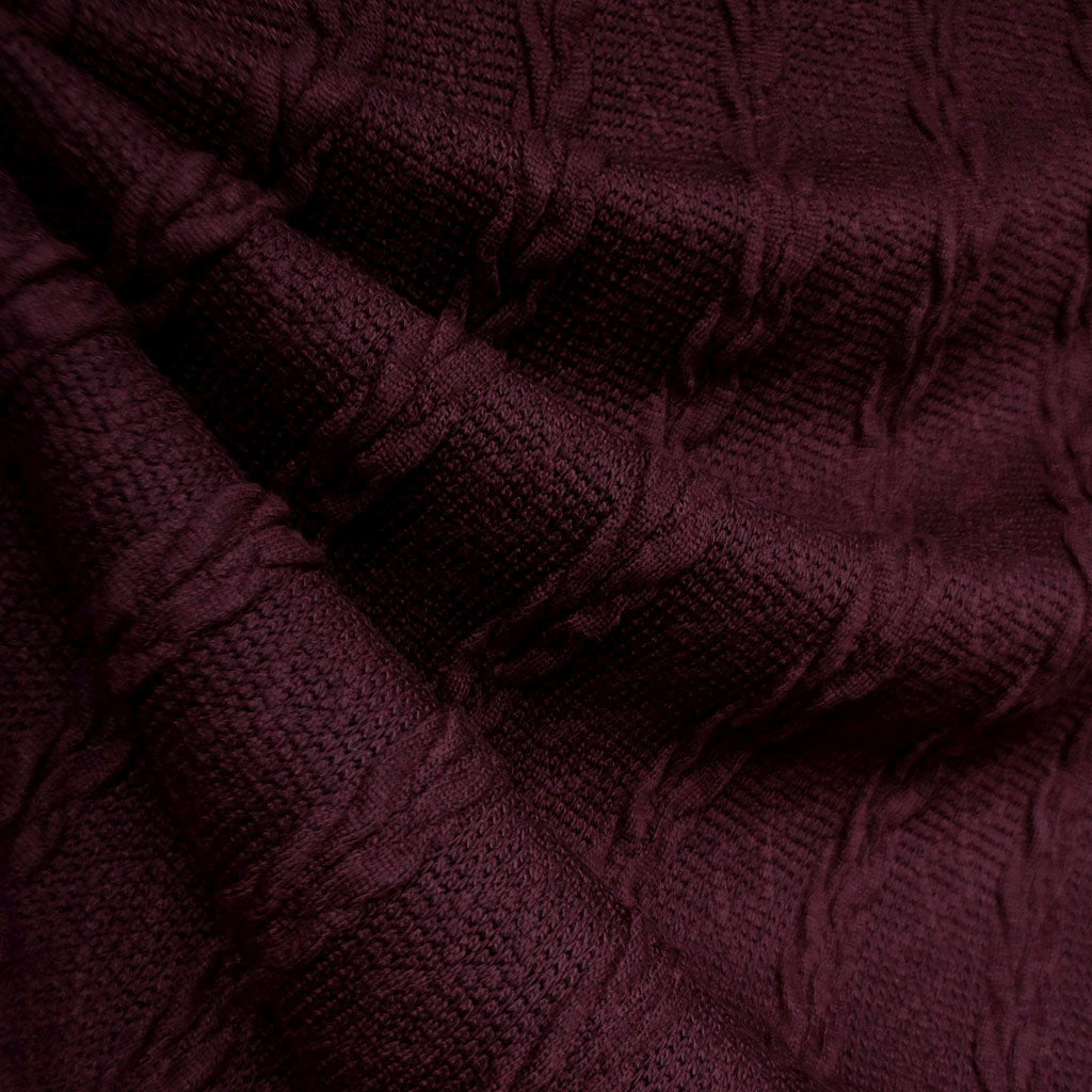 Soft Cable Stripe Sweater Knit Wine SY - Sold Out - Style Maker Fabrics