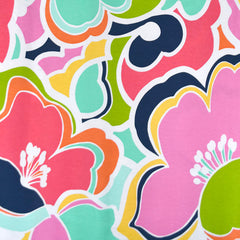 Designer Abstraction Floral Rayon Jersey Sherbet - Fabric - Style Maker Fabrics