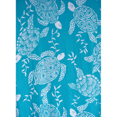 Designer Turtle Bay Rayon Jersey Turquoise/White SY - Sold Out - Style Maker Fabrics