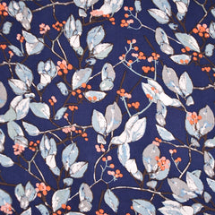 Earthen Branches and Berries Rayon Navy - Sold Out - Style Maker Fabrics