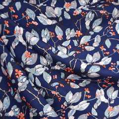 Earthen Branches and Berries Rayon Navy SY - Sold Out - Style Maker Fabrics