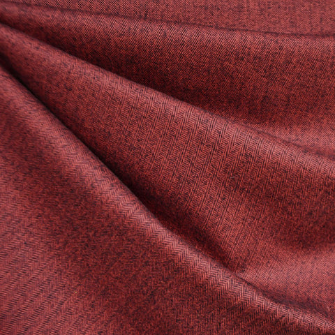 Shetland Flannel Mini Herringbone Crimson