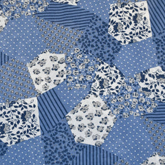 Print Mix Patchwork Poly Sheer Blues - Fabric - Style Maker Fabrics