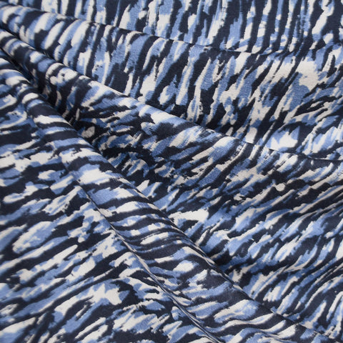 Layered Brushstroke Rayon Jersey Navy/Blue