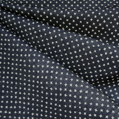 Star Dot Tencel Denim Shirting Indigo