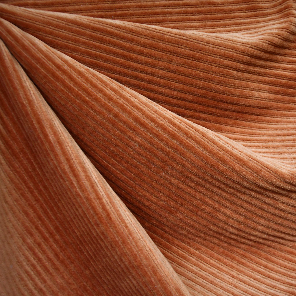 Plush Corduroy Velour Knit Solid Rust SY - Sold Out - Style Maker Fabrics