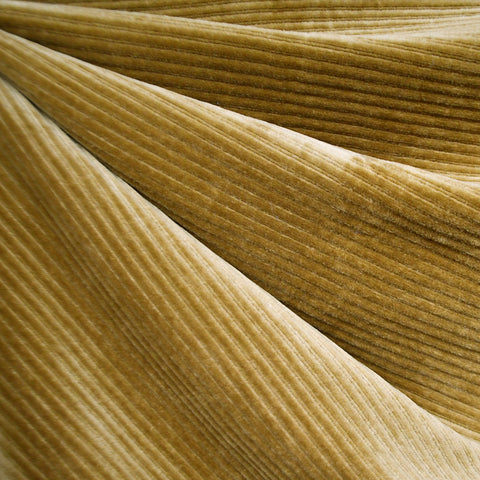 Plush Corduroy Velour Knit Solid Mustard