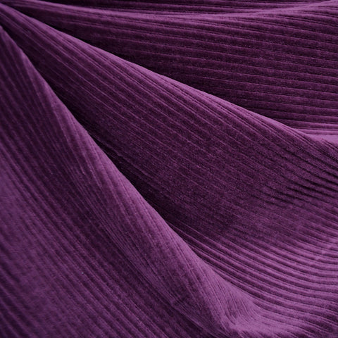 Plush Corduroy Velour Knit Solid Purple