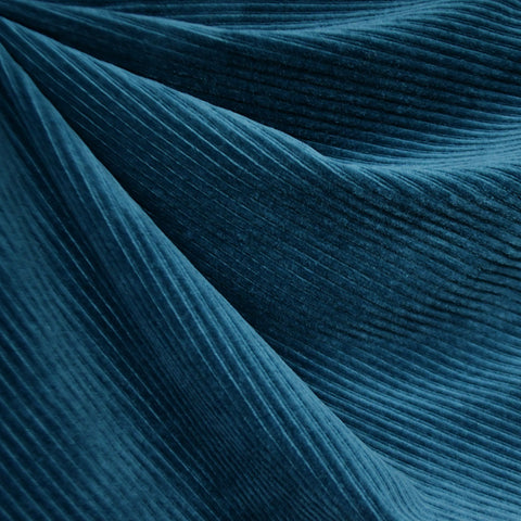 Plush Corduroy Velour Knit Solid Ocean