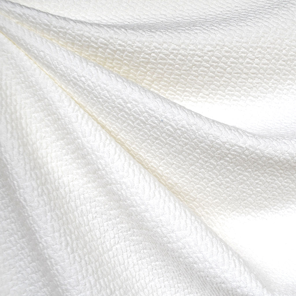 Crinkle Texture Double Knit Solid Vanilla - Fabric - Style Maker Fabrics