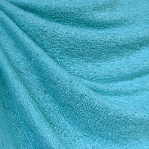 Soft Gauze Texture Sweater Knit Aqua