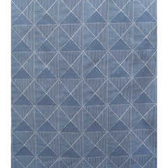 Sketch Geometric Stretch Twill Blue/White SY - Sold Out - Style Maker Fabrics