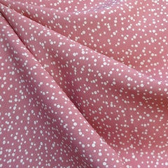 Scatter Polka Dot Rayon Crepe Rose - Sold Out - Style Maker Fabrics