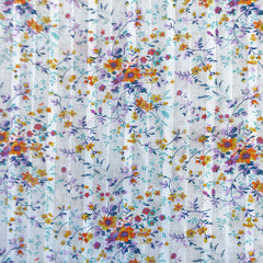 Ditsy Floral Textured Cotton Voile White/Multi - Sold Out - Style Maker Fabrics
