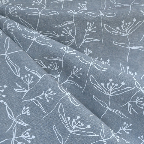 Driftless Butterfly Weed Linen Blend Chambray