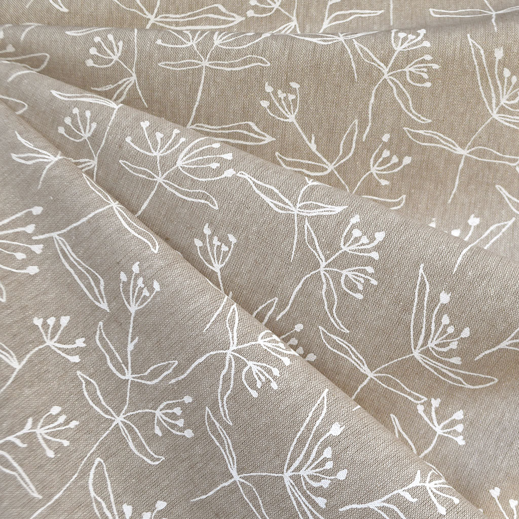 Driftless Butterfly Weed Linen Blend Flax SY - Sold Out - Style Maker Fabrics